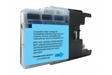 Brother LC1280 Cyan | Cartouche d'encre Compatible Brother LC-1280