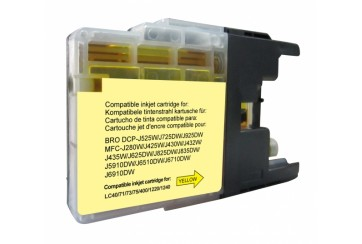 Brother LC1280 Jaune | Cartouche d'encre Compatible Brother LC-1280