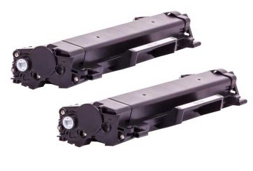 Brother TN2420 Noir, Lot de 2 cartouches toners lasers compatibles Brother TN-2420.