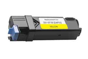 Dell 2150 Jaune, cartouche Toner compatible Dell 2150 (NPDXG) de 2500 Pages. Garantie 1 an.