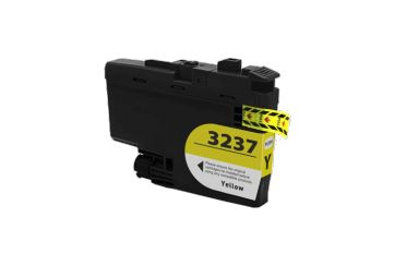 Brother LC-3237XLY Jaune (LC3237XLY), cartouche d'encre compatible Brother LC-3237XLY de 1 500 pages. Garantie 1 an.