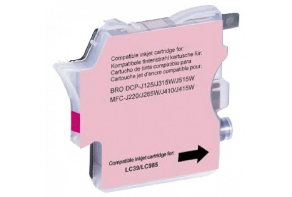 Brother LC985 Magenta, cartouche d'encre compatible Brother LC-985M de 600 pages. Garantie 1 an.