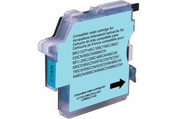 Brother LC1100C Cyan |Cartouche d'encre Compatible pas cher pour Brother LC-1100C