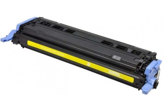 HP Q6002 Jaune, cartouche toner compatible HP 124A de 2000 pages. Garantie 1 an.