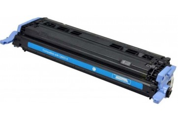 HP Q6001 Cyan, cartouche toner compatible HP 124A de 2000 pages. Garantie 1 an.