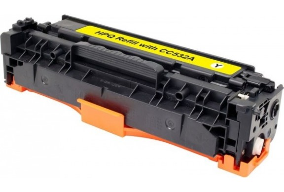 HP CC532 Jaune, cartouche toner compatible HP 304AY de 2800 pages. Garantie 1 an.