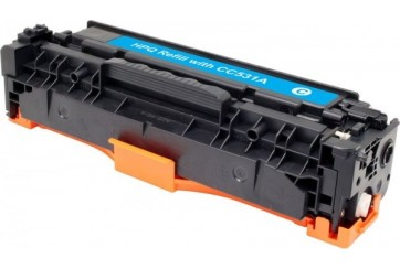 HP CC531 Cyan, cartouche toner compatible HP 304AC de 2800 pages. Garantie 1 an.