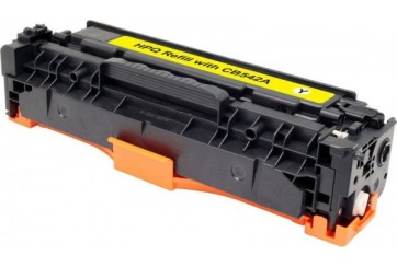 HP CB542A Jaune, cartouche toner compatible HP 125AY de 1400 pages. Garantie 1 an.
