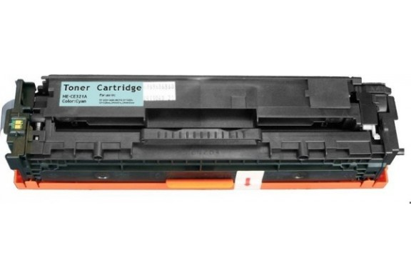 hp ce321a cyan cartouche toner compatible 128ac 1300 pages. Black Bedroom Furniture Sets. Home Design Ideas