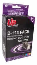 Pack Uprint Brother LC123 / LC121