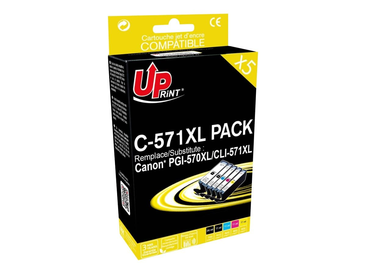 Pack Uprint Canon PGI570XL et CLI571XL